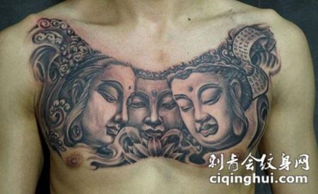 三面佛像纹身