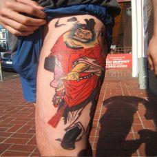 大腿钟馗纹身图案