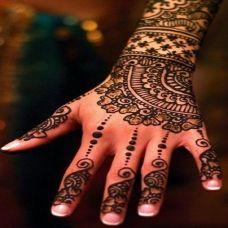 手背上的海娜图腾纹身图案