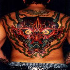 满背般若纹身图案