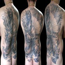 满背天师钟馗纹身图案