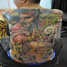 满背阴司判官纹身图案