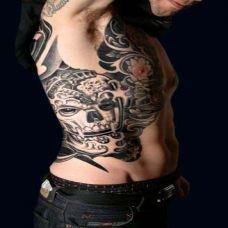 身侧嘎巴拉纹身图案