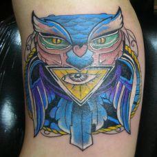 胳膊上的超人纹身