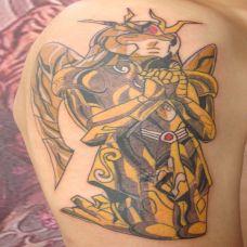 胳膊上的金刚纹身