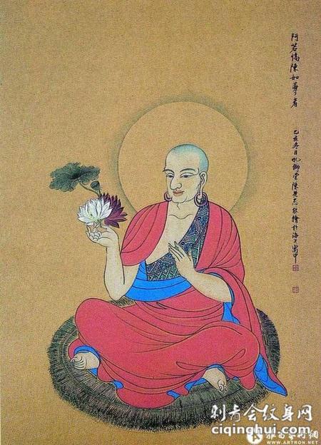 神话人物罗汉纹身手稿