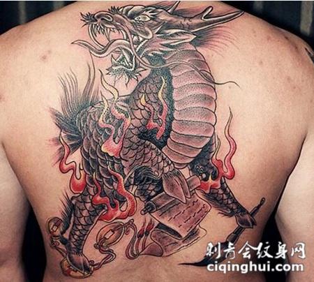 经典霸气的麒麟纹身