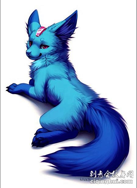 个性卡通狐狸纹身手稿素材