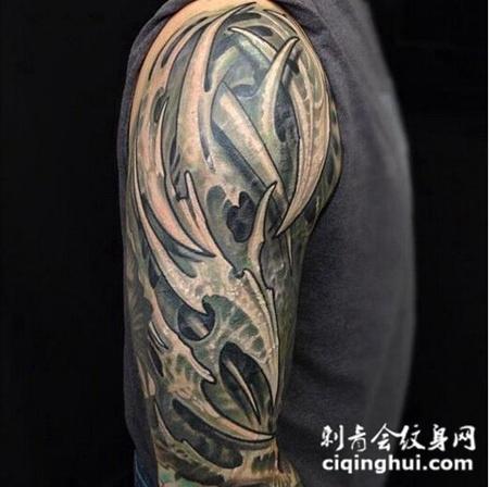 男士个性帅气手臂纹身(图片编号:42326)_最新 - 刺青会