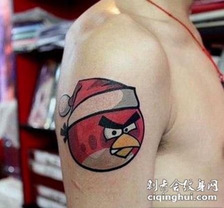 可爱动画手臂彩绘纹身