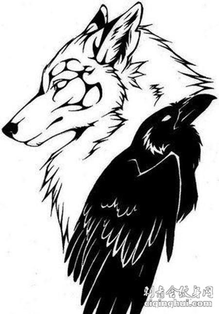 个性纹身素材狼图腾纹身图案