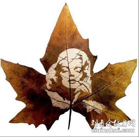 叶子纹身雕刻 欧美名画系列