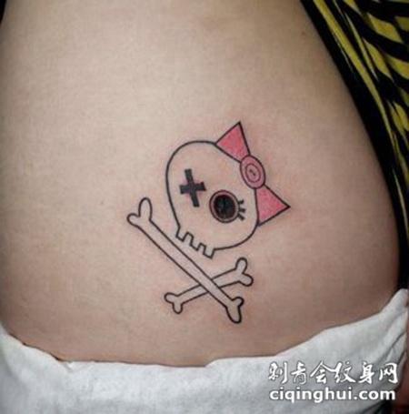 可爱小巧臀部纹身