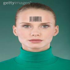 个性额头条形码图纹