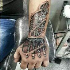 个性时尚机械臂纹身