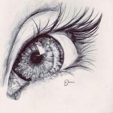 美式眼球刺青手稿纹身素材图案