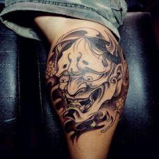 小腿般若纹身 日本刺青