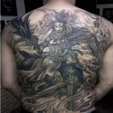 个性的二郎神纹身满背图案大全