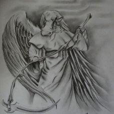 经典死神手稿素材艺术纹身图片