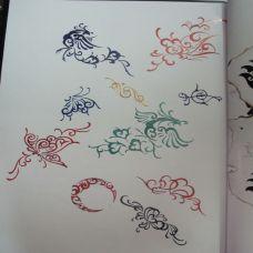 小清新纹身手稿素材