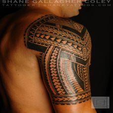 个性手臂黑色图腾纹身图案