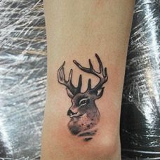 小清新小鹿刺青图片