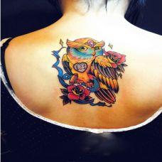 炫彩创意背部纹身