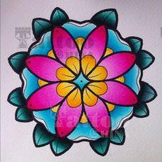 唯美的花蕊纹身图案