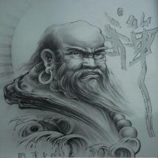 经典弥勒佛纹身手稿图案