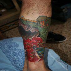 意大利纹身师 Daniele Trabucco 包小腿纹身