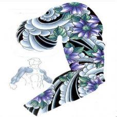 流行于日本花蕊纹身半甲图案欣赏