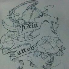 前卫精美抽象艺术纹身