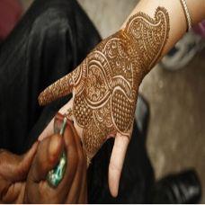 手指个性唯美的印度海娜纹身