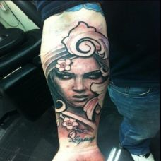 欧美纹身师肖像纹身作品
