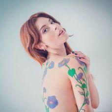 文艺少女艺术纹身