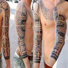 德国纹身师GERD图腾花臂作品