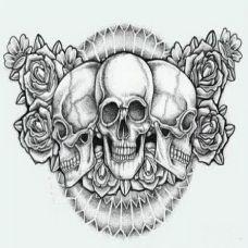 另类恐怖的骷髅纹身素材