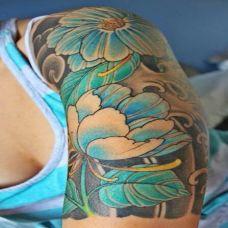 个性花臂纹身图案