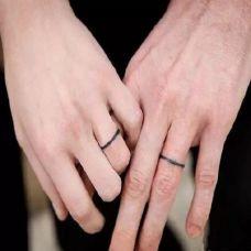 手指情侣纹身图案欣赏