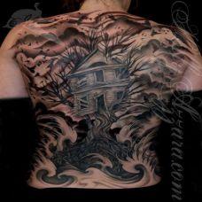 生命之树满背纹身图案