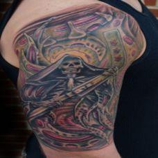 帅气的死神手臂纹身图案