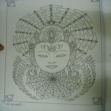 西藏神佛经典纹身素材系列