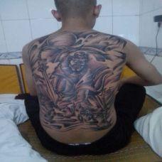 鬼道之神 背部钟馗刺青图案