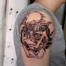 神秘莫测般若手臂纹身图案
