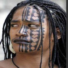 图腾经典脸部纹身
