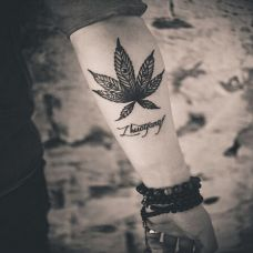 优雅文艺黑白纹身图案