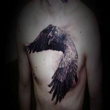 个性创意胸部纹身