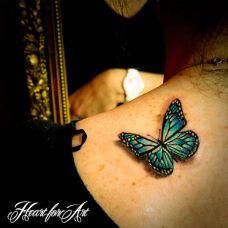 时尚优雅的蝴蝶3d纹身