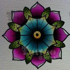 另类好看的花蕊手稿纹身图案