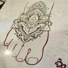 脚部纹身手稿集图片